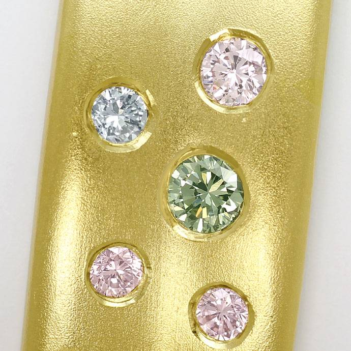 Foto 2 - Goldarmreif mit 2,15ct Farb Brillanten, Pink Blue Green, S9153