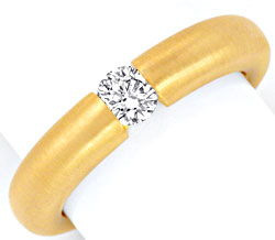 Foto 1, Brillantspannring 0,32 F VS1 18K Gelbgold massiv Luxus!, S9220