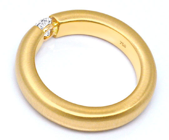 Foto 3, Brillantspannring 0,32 F VS1 18K Gelbgold massiv Luxus!, S9220