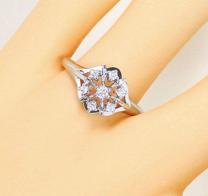 Foto 5, Diamantring mit 0,21ct River Brillanten in Weißgold 14K, S9223
