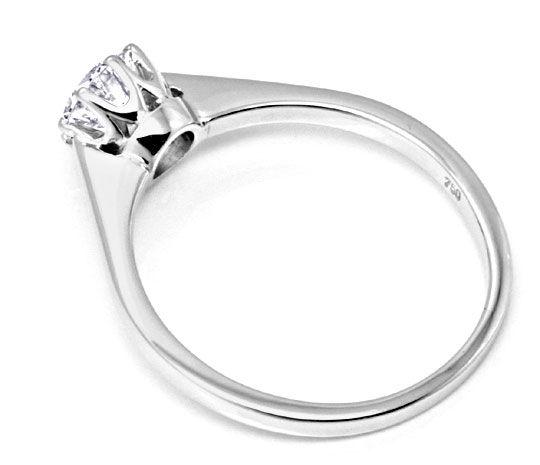 Foto 3, Brillant Diamant Ring 0,76 F VVS2 Weissgold 18K Schmuck, S9228