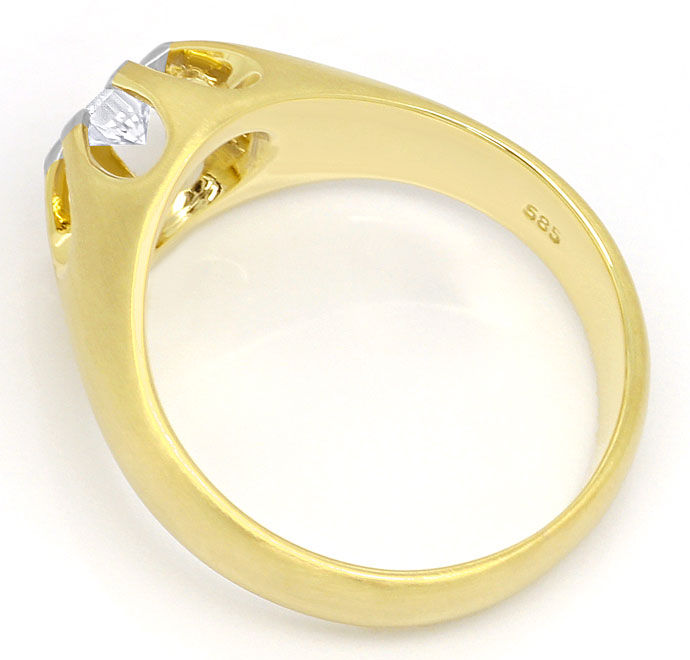 Foto 3, Massiver Ring mit 0,23ct River Brillant in Bicolor Gold, S9266