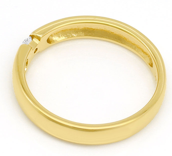 Foto 3, Schicker Spannring mit 0,07ct Brilliant in 14k Gelbgold, S9296