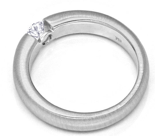 Foto 3, Brillant Diamant Spann Ring River VVS Weiss Gold Luxus!, S9299