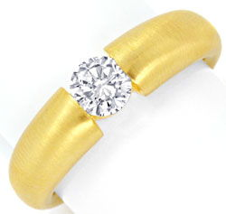 Foto 1, Massiver Diamant Spannring 0,52ct Brilliant 18K, Luxus!, S9302