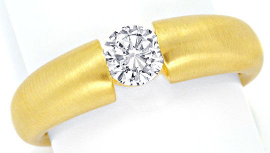 Foto 2, Massiver Diamant Spannring 0,52ct Brilliant 18K, Luxus!, S9302