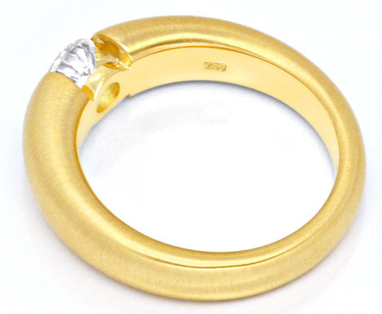 Foto 3, Massiver Diamant Spannring 0,52ct Brilliant 18K, Luxus!, S9302