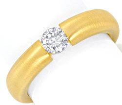 Foto 1, Diamant Spannring 0,36ct River Brillant 18K Gold Luxus!, S9303