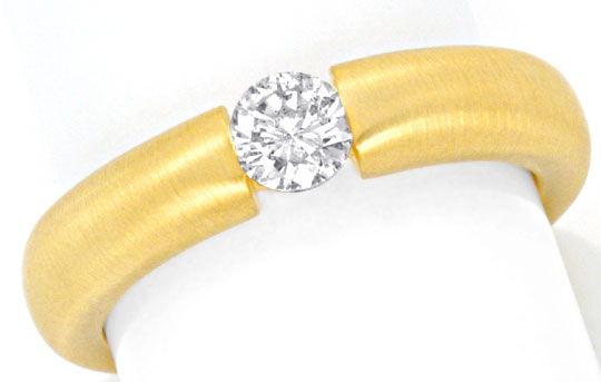 Foto 2, Diamant Spannring 0,36ct River Brillant 18K Gold Luxus!, S9303