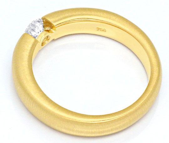 Foto 3, Diamant Spannring 0,36ct River Brillant 18K Gold Luxus!, S9303
