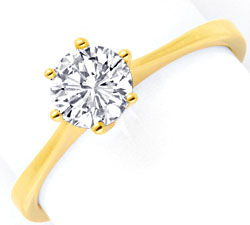 Foto 1, Diamant Krappen Goldring 0,72ct VVS 18K Gold Luxus! Neu, S9304