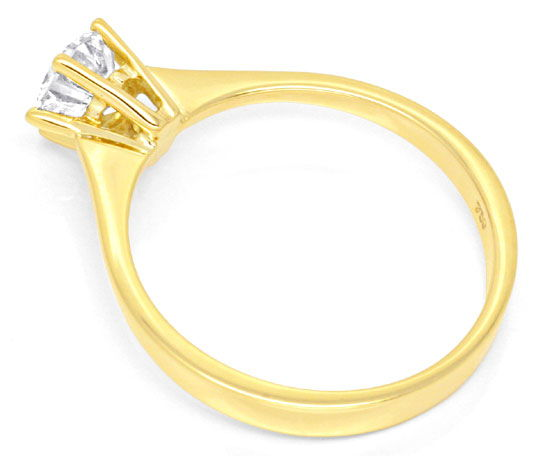 Foto 3, Diamant Krappen Goldring 0,72ct VVS 18K Gold Luxus! Neu, S9304