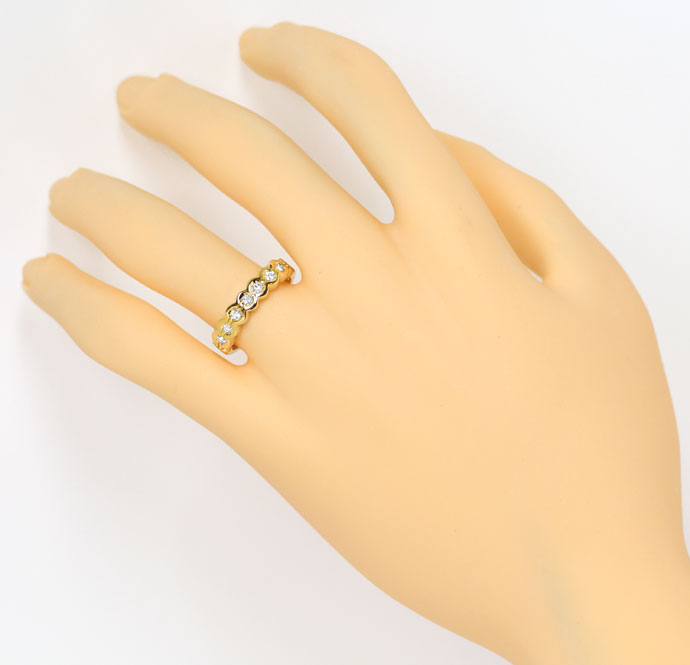 Foto 4, Allianz Diamantring 0,21ct Brillanten im Halbmemoryring, S9335