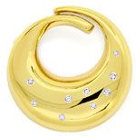 Design Brosche, Diamanten 0,115ct River in 14K Gelbgold