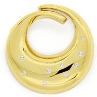 zum Artikel Design Brosche, Diamanten 0,115ct River in 14K Gelbgold, S9344