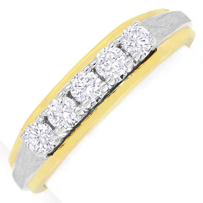 Foto 2 - Halbmemory Diamantring mit 0,38ct River Brillanten, 14K, S9349