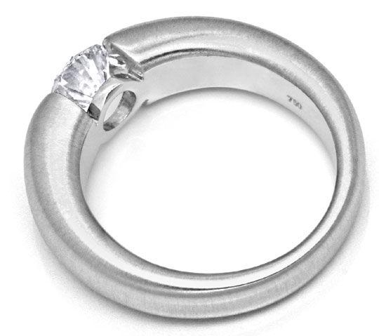 Foto 3, Brillant Diamant Spannring 0,97ct VS1 Weissgold Schmuck, S9366