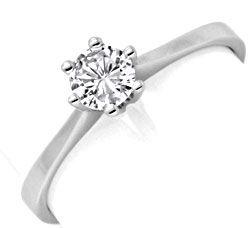 Foto 1, Brilliant Diamant Ring Drittel Karäter Weissgold Luxus!, S9367