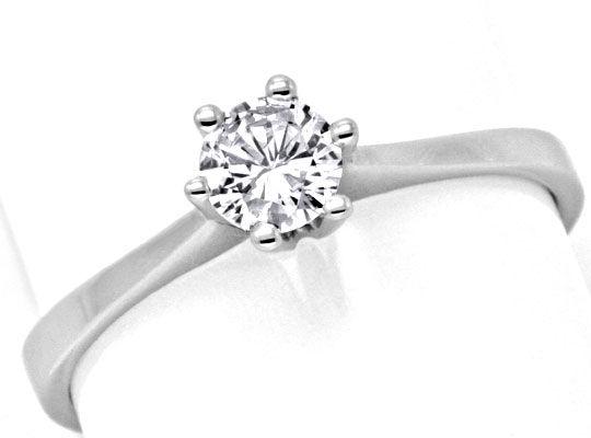 Foto 2, Brilliant Diamant Ring Drittel Karäter Weissgold Luxus!, S9367