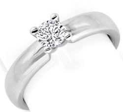 Foto 1, Designer Brilliant Diamantring Weissgold 0,4ct G Luxus!, S9369