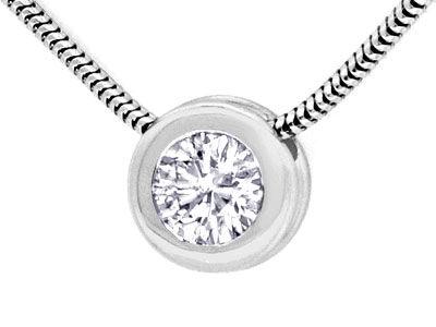 Foto 2, Brillantkollier 0,75ct Solitär Diamant Weissgold Luxus!, S9370