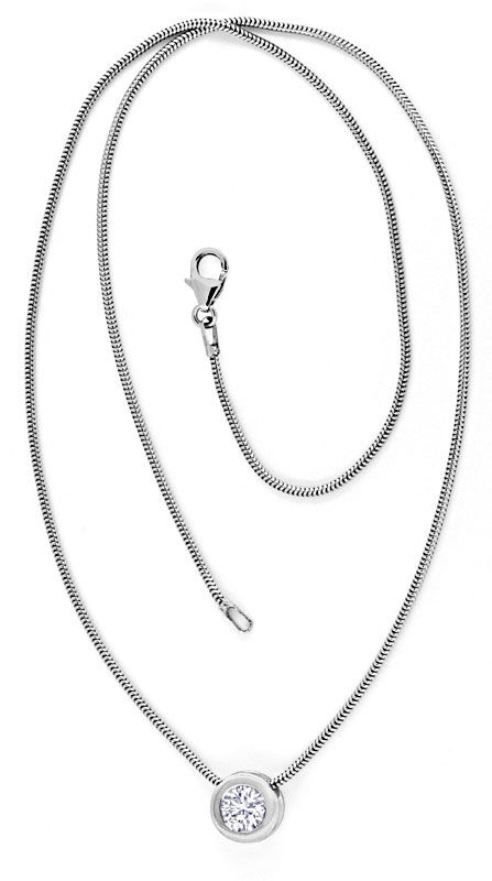 Foto 4, Brillantkollier 0,75ct Solitär Diamant Weissgold Luxus!, S9370