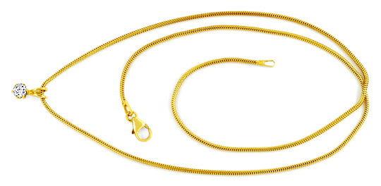 Foto 1, Diamant Gold Kollier 0,26 feines Weiss Lupenrein Luxus!, S9374