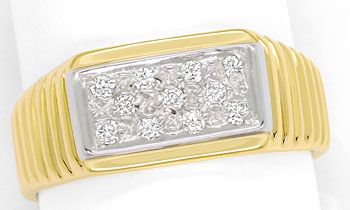 Foto 1, Diamantring mit 0,16ct River Brillanten in 14K/585 Gold, S9377
