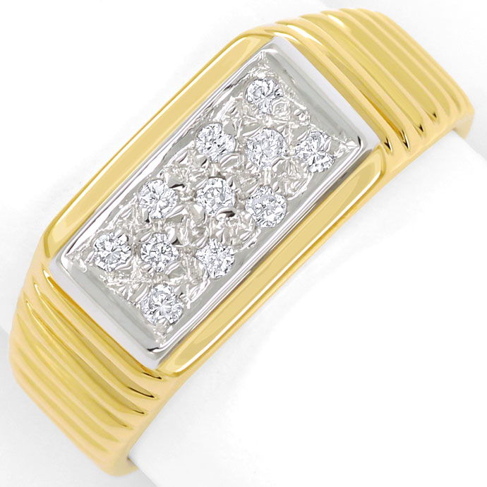 Foto 2 - Diamantring mit 0,16ct River Brillanten in 14K/585 Gold, S9377