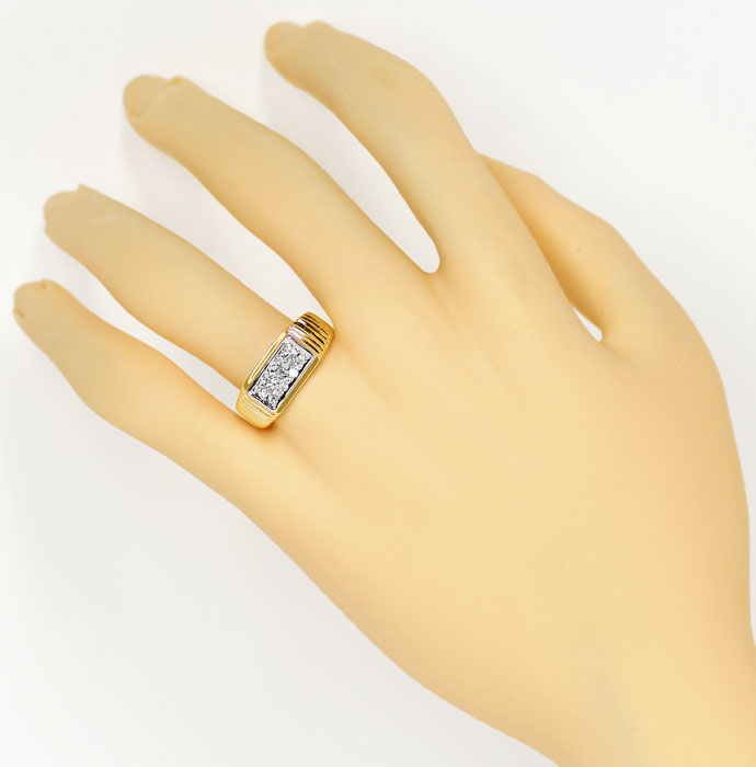 Foto 4, Diamantring mit 0,16ct River Brillanten in 14K/585 Gold, S9377