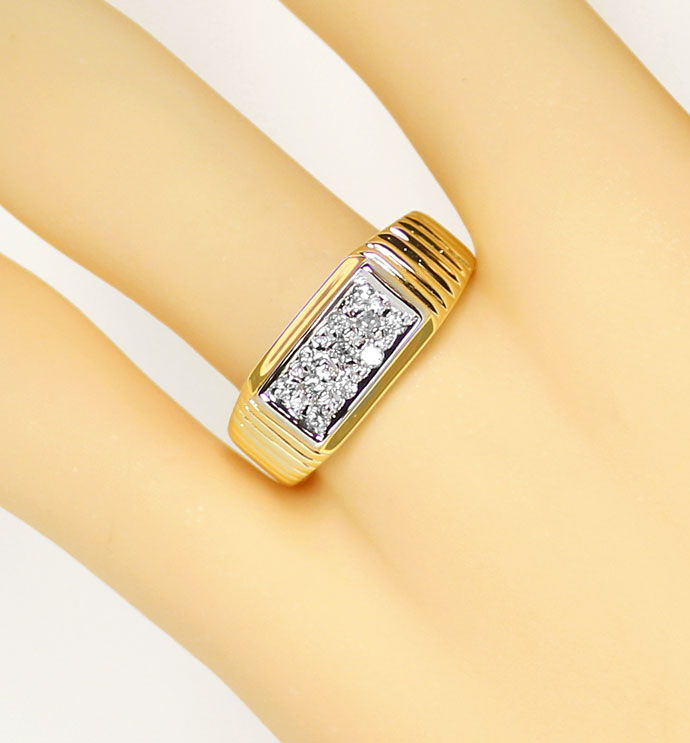 Foto 5, Diamantring mit 0,16ct River Brillanten in 14K/585 Gold, S9377