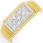 Diamantring mit 0,16ct River Brillanten in 14K/585 Gold