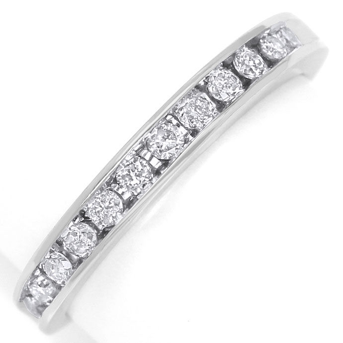 Foto 2 - Diamantring Halbmemory Ring 0,25ct Brillanten in Platin, S9394