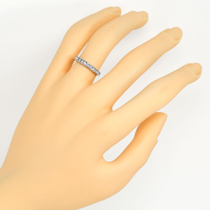 Foto 4, Diamantring Halbmemory Ring 0,25ct Brillanten in Platin, S9394