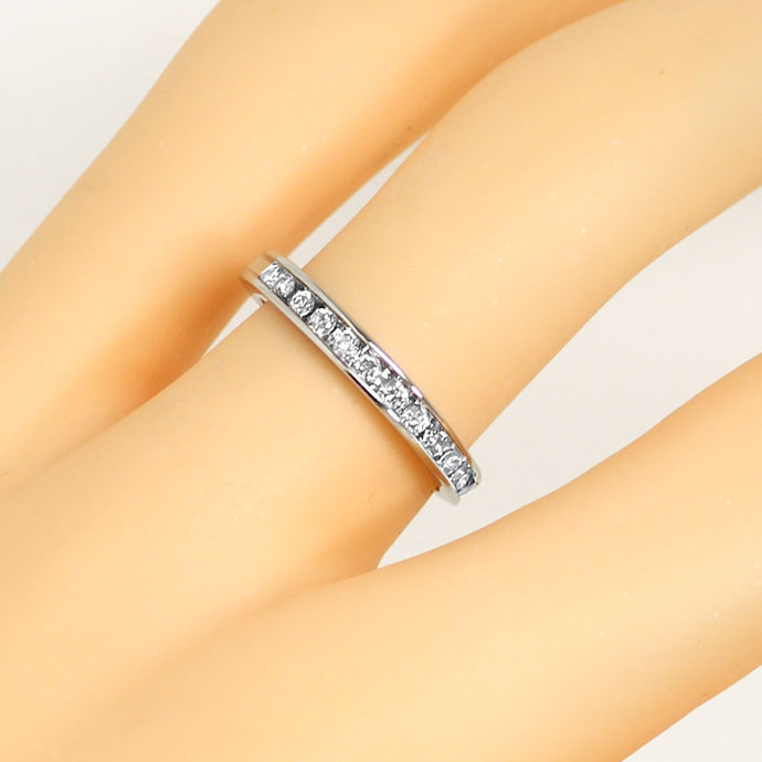 Foto 5, Diamantring Halbmemory Ring 0,25ct Brillanten in Platin, S9394