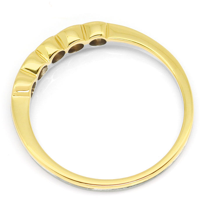Foto 3, Brillanten Halbmemory Ring mit 0,25ct Brillanten in 18K, S9396