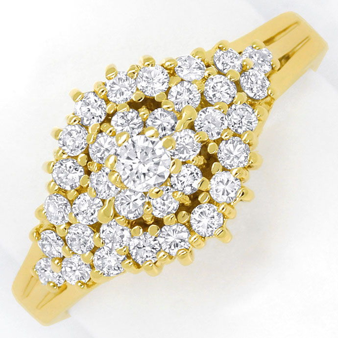 Foto 2 - Dekorativer Gelbgold Diamantring mit 0,70ct Brillianten, S9398