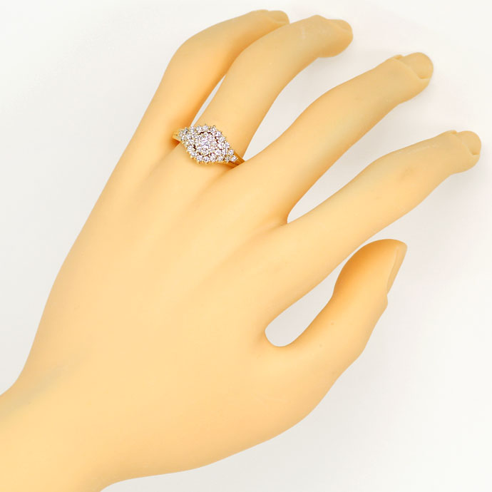 Foto 4, Dekorativer Gelbgold-Diamantring mit 0,70ct Brillianten, S9398