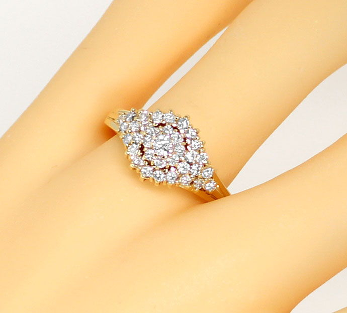 Foto 5 - Dekorativer Gelbgold Diamantring mit 0,70ct Brillianten, S9398