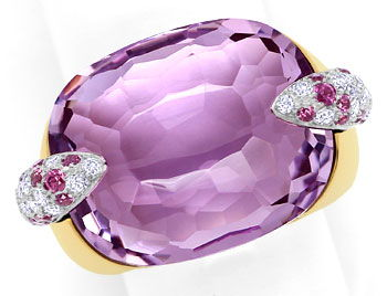 Foto 1 - Pomellato Ring Pin Up, Amethyst, Rhodolithe, Brillanten, S9425