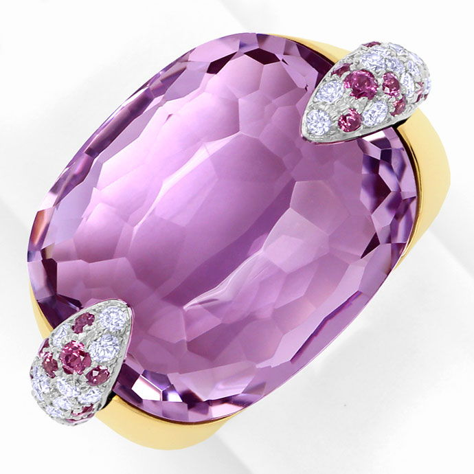 Foto 2, Pomellato Ring Pin Up, Amethyst, Rhodolithe, Brillanten, S9425