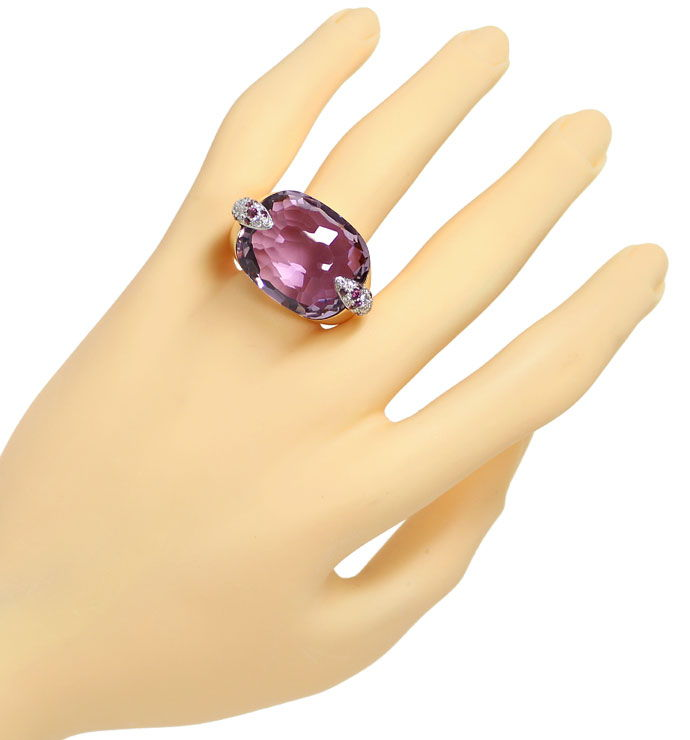 Foto 5 - Pomellato Ring Pin Up, Amethyst, Rhodolithe, Brillanten, S9425