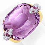 Pomellato Ring Pin Up, Amethyst, Rhodolithe, Brillanten