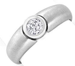Foto 1, Brilliant Ring Weiss Gold Drittel Karäter 0,33ct Luxus!, S9454