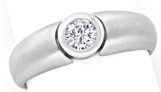 Foto 2, Brilliant Ring Weiss Gold Drittel Karäter 0,33ct Luxus!, S9454