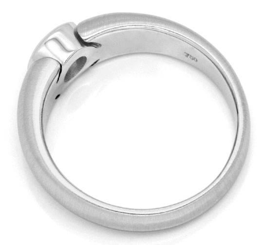 Foto 3, Brilliant Ring Weiss Gold Drittel Karäter 0,33ct Luxus!, S9454