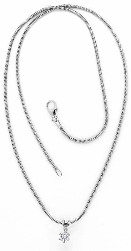 Foto 3, Brillantkollier Weissgold Collier 0,28ct Diamant Luxus!, S9455