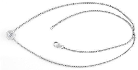 Foto 1, Diamantkollier Diamant Zarge Schlangen Goldkette Luxus!, S9456