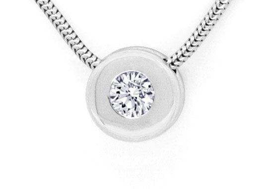 Foto 2, Diamantkollier Diamant Zarge Schlangen Goldkette Luxus!, S9456
