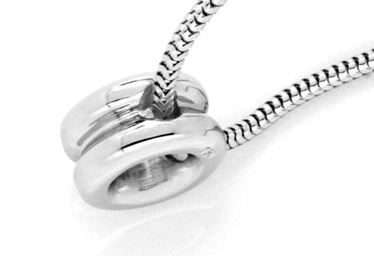 Foto 3, Diamantkollier Diamant Zarge Schlangen Goldkette Luxus!, S9456